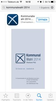 Die App zur Kommunalwahl 2014 in Rheinland-Pfalz.