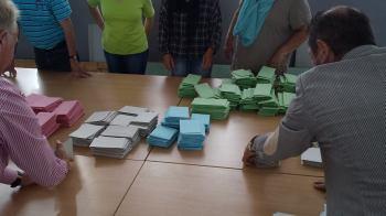 Auszählung von Stimmzetteln
