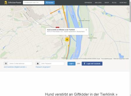 Giftköder-Radar warnt vor Giftködern auch in Rheinhessen.