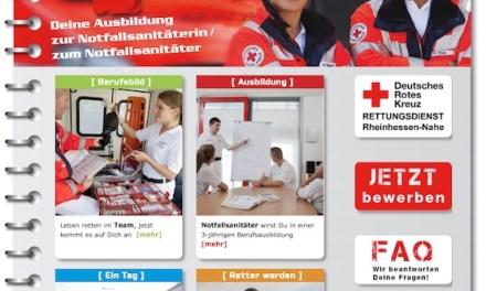 Retter werden! DRK-Rettungsdienst startet  Ausbildungskampagne für Notfallsanitäter