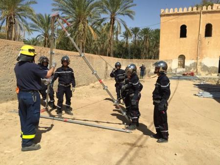 Wörrstädter THW-Helfer als Ausbilder in Tunesien