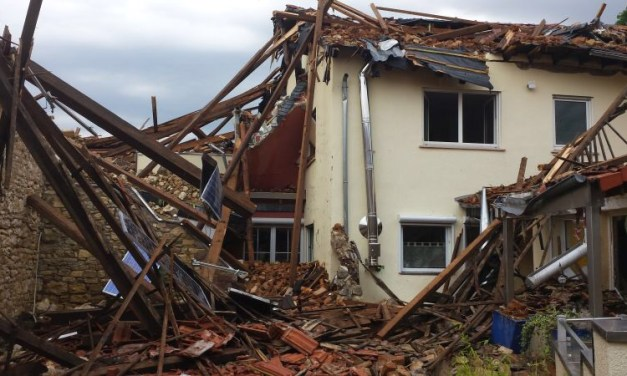 Sturm zerstört Haus in Framersheim