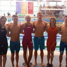 Die Teams der männlichen und weiblichen 4x50m Gurtretter-Staffel