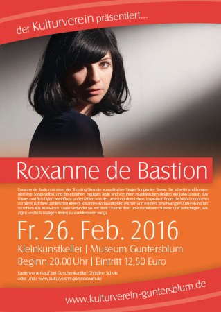 Roxanne de Bastion am 26. Februar in Gunterblum.