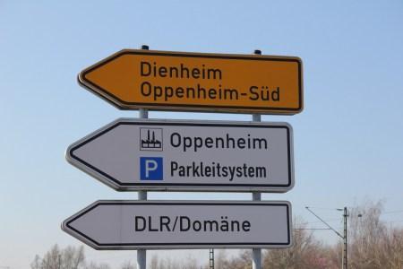 Sperrung der Zufahrt Oppenheim -Süd bis Mitte Mai. (Bild: Stadt Oppenheim)