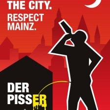 Mit diesem Plakat versuchte Mainz zur Fastnacht gegen Wildpinkler Front zu machen.