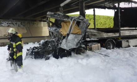 Tödlicher LKW Unfall auf der Autobahn A 60