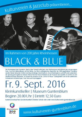 Soulful Jazz mit Black and Blue im Guntersblumer Museumskeller