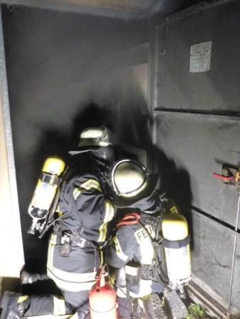 Brand in einem Trafo-Häuschen in Mainz. (Bild: Feuerrwehr Mainz