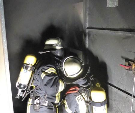 Brand in einem Trafohäuschen in Mainz