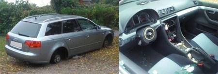 Die Täter haben das Auto geradezu ausgeweidet. (Bild: Polizei Worms)