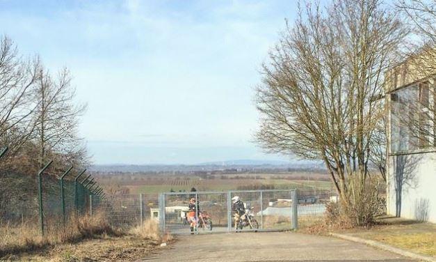 Noch nicht offiziell genehmigt aber schon genutzt – die Cross-Strecke im Rhein-Selz-Park