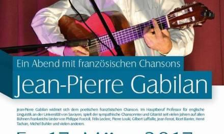 Ein Abend mit französischen Chansons Jean-Pierre Gabilan im Guntersblumer Kulturkeller