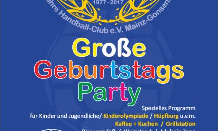 Handball-Club Mainz-Gonsenheim feiert den 40. Geburtstag