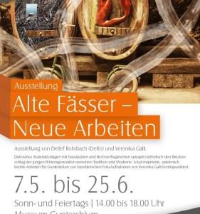 """Ausstellung """"Alte Fässer – Neue Arbeiten"""" von Detlef Rohrbach und Veronika Galli im Museum Guntersblum"""