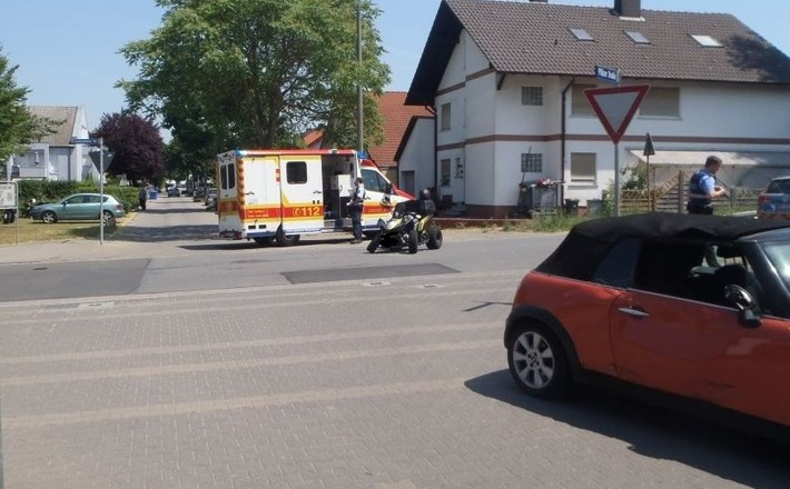Vorfahrt missachtet – Quad-Fahrer wird bei Unfall schwer verletzt