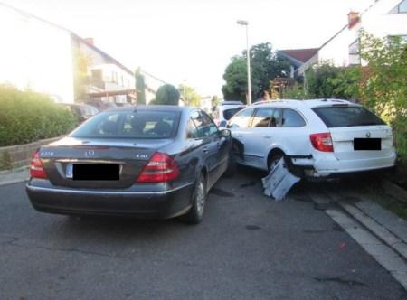 Der Unfall in Essenheim. (Foto: Polizei Mainz)