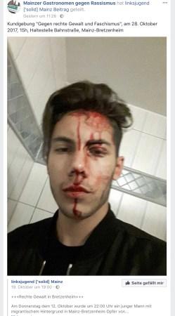 Das ist das von der Polizei erwähnte Bild nebst Text von Facebook.