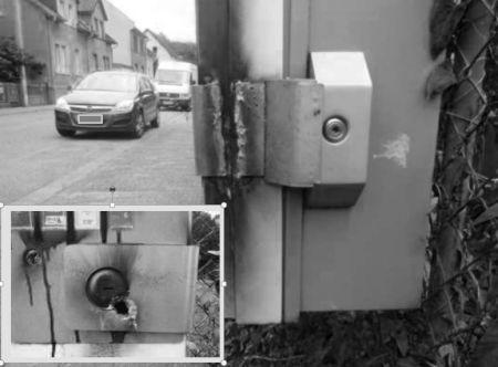 Foto das aufgeschweißten Automaten. (Foto: Polizei Mainz)