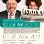 Rabbi Rothschild erzählt aus seinem Leben und singt leider – pardon: Lieder