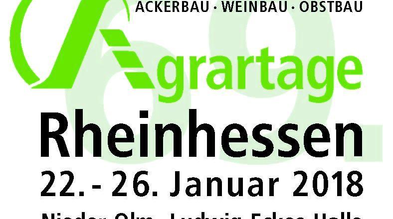 69. Agrartage Rheinhessen vom 22. bis zum 26. Januar in Nieder-Olm