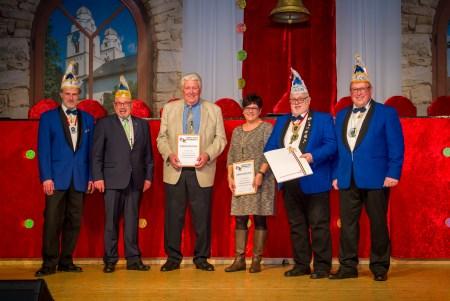 Auf dem Bild von links nach rechts: Dieter Schowalter, Horst Crössmann (IGMK), Edmund Eller, Liane Darmstadt, Klaus Bechler und Peter Muth.