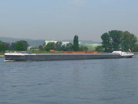 Frachtschiff auf dem Rhein (Symbolbild: Wikipedia)