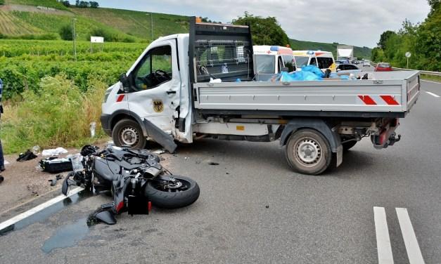 Schwerer Motorradunfall bei Nierstein