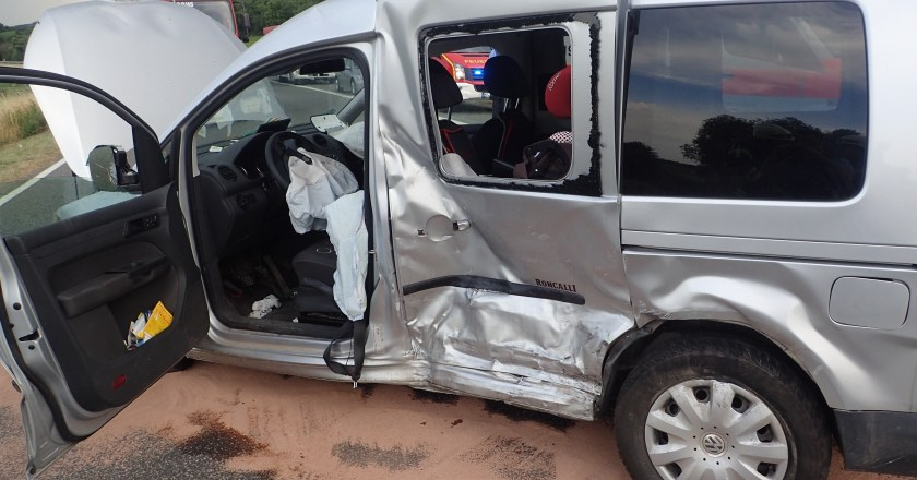 Unfall mit Verletzten bei Guntersblum auf der alten B9