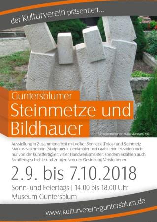 Plakat Ausstellung Bildhauer Steinmetze