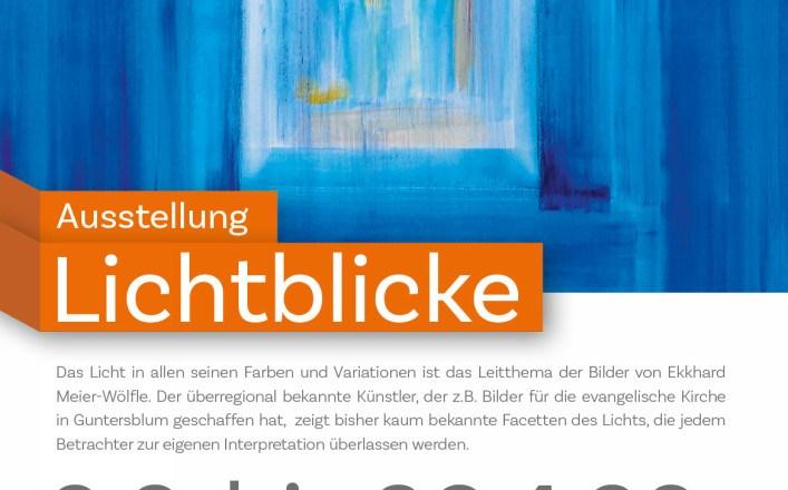 """Ausstellung """"Lichtblicke"""" mit dem Künstler Eckhard Meier-Wölfle im Museum Guntersblum"""