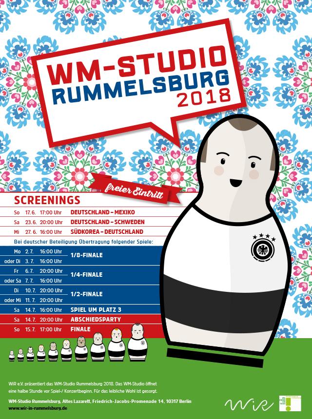 WiR – Wohnen in der Rummelsburger Bucht Nachbarschaftsverein – WM-Studio Rummelsburg 2018