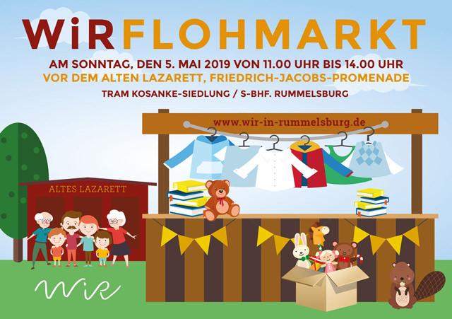 WiR – Wohnen in der Rummelsburger Bucht Nachbarschaftsverein – WiR Flohmarkt am 05.05.2019