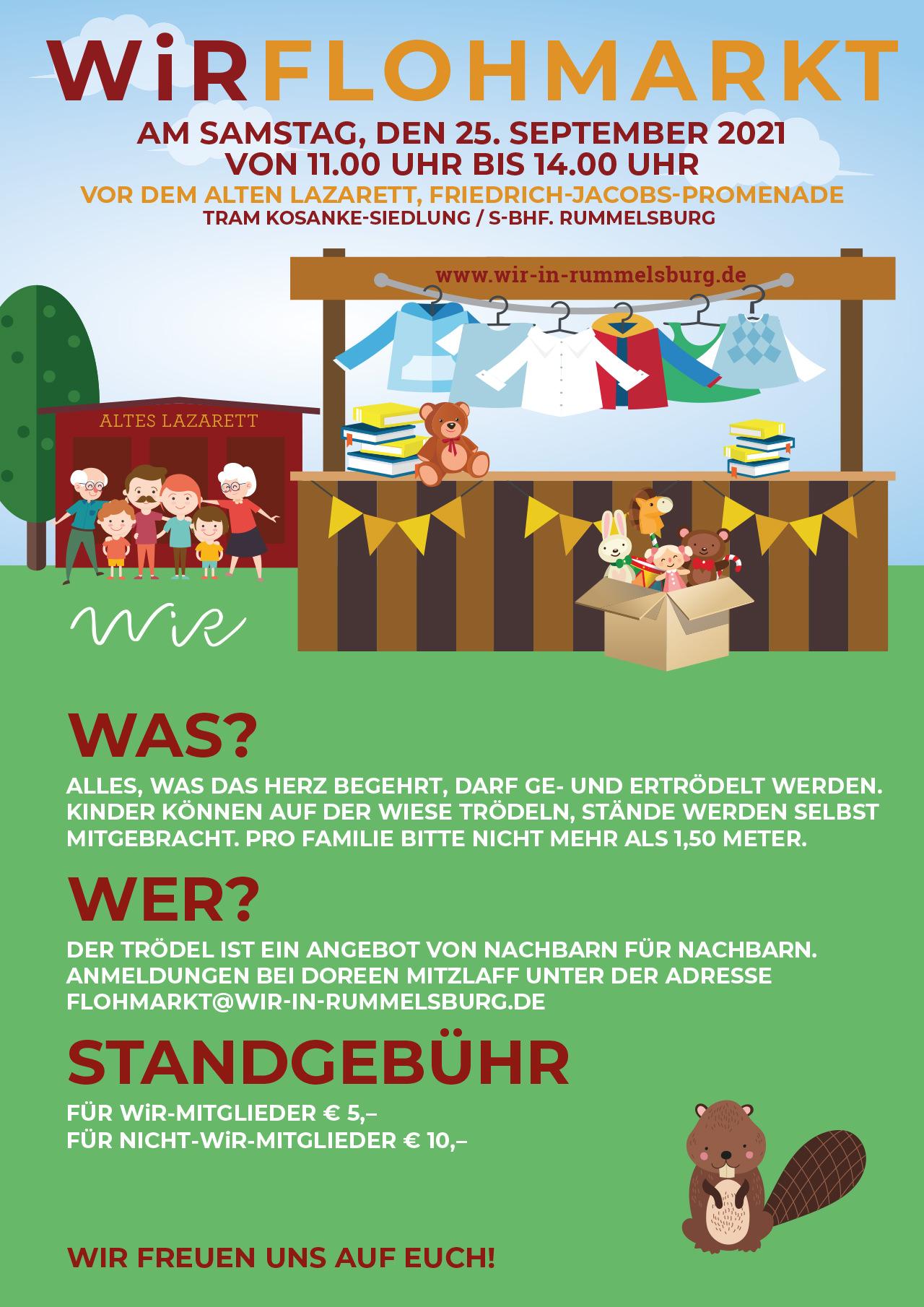 WiR – Wohnen in der Rummelsburger Bucht Nachbarschaftsverein – WiR Flohmarkt am 25.09.2021