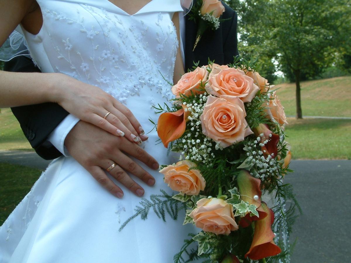 Brautstrauss  Wir sagen Ja