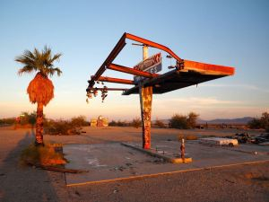 Tankstelle in der Mojave Wüste