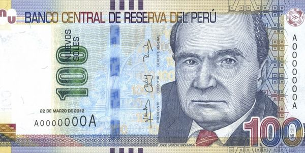 The official currency of Perú