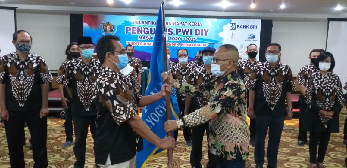 Pengurus PWI DIY 2020-2025 Dilantik, Program Prioritas Mengawal Pembangunan Grha Pers Pancasila
