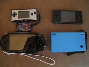 GBA Micro, Dingoo a320, PSP 1000 & DSi