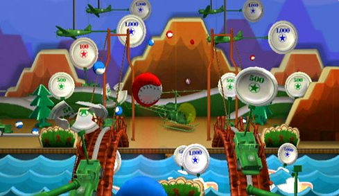 Throwing Baseballs At Plates With Little Green Army Men    Image: Disney Interactive