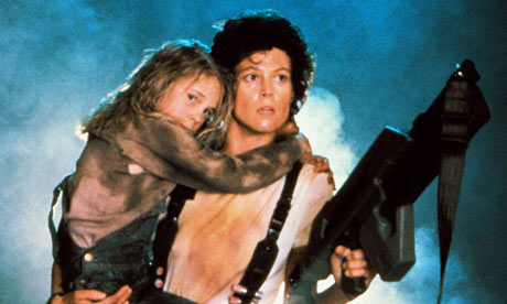 Sigourney Weaver got all maternal in Aliens.
