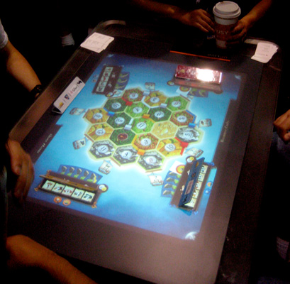 Settlers of Catan on Microsoft Surface Table