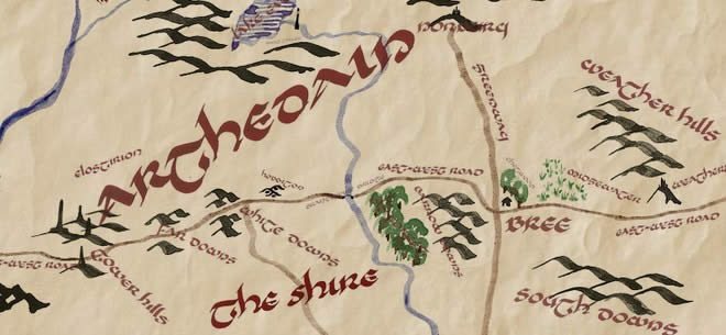 Map of Middle-earth