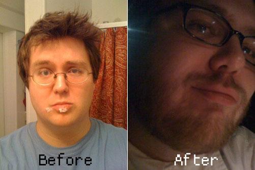 Michael Harrison's journey to bearditude.
