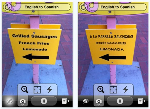 Word Lens screen shot