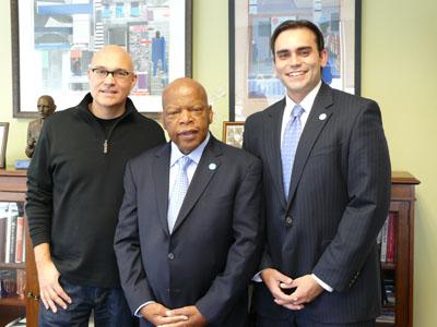 Chris Staros, Congressman John Lewis & Andrew Aydin