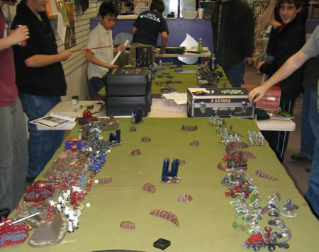 Kids playing Warhammer