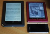 The NOOK Color is a large e-reader.