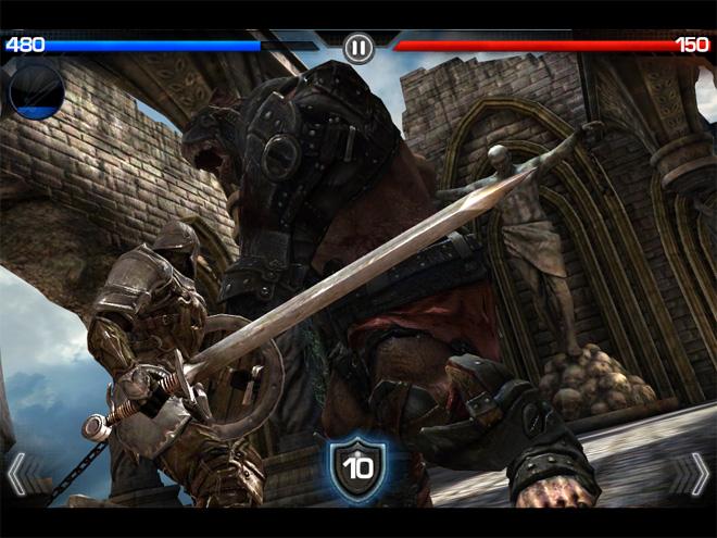 Infinity Blade battle