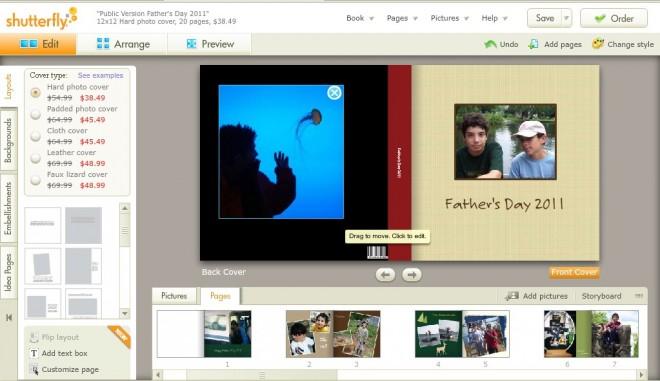 Shutterfly Screen Grab